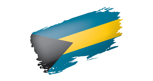 Bahamian Flag in grunge
